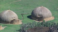 Zulu Kraal Stock Footage