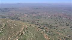 Landscape And Farms Near Nqutu Stock Footage