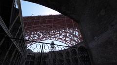 Fort Point Golden Gate Bridge dolly left Stock Footage