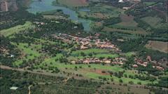 Golf Resorts Around Hartebeespoort Dam Stock Footage