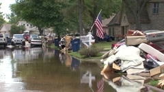 Truck Driving Through Flooding Stock Footage