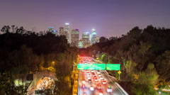 Los Angeles, California, USA Skyline Moving Time Lapse Stock Footage