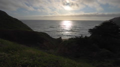 Gray Whale Cove Beach California Stock Footage