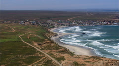 Strandfontein aerial Stock Footage