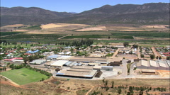 Citrusdal aerial Stock Footage