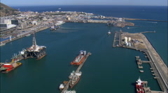 Cape Town Harbour Stock Footage