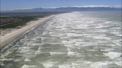 Muizenberg aerial Stock Footage