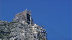Table Mountain Aerial Cableway Stock Footage