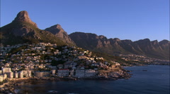 Cape Town At Sunset Stock Footage