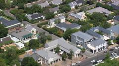Franschhoek aerial Stock Footage