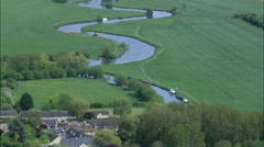 Lechlade aerial Stock Footage