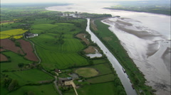 River Severn Estuary Stock Footage