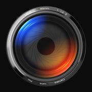 85mm lens in front. - stock illustration