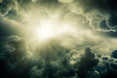 Light from the sun. Stock Illustration