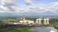 Drax Power Station Stock Footage