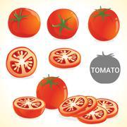 Fruit201508 Set of tomato in various styles vector format2 - stock illustration
