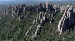 The Needles And Cathedral Spires Stock Footage