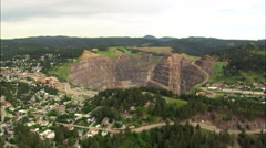 Yates And Homestake Mine Buildings Stock Footage