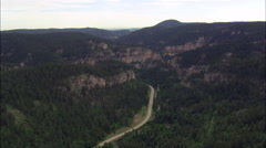 Spearfish Canyon Near Deadwood Stock Footage