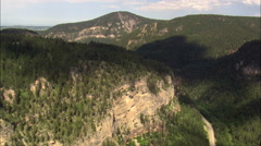 Rocks In Spearfish Canyon Stock Footage