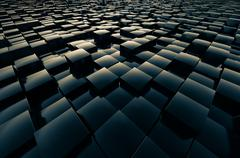 Fields cubic abstract Stock Illustration