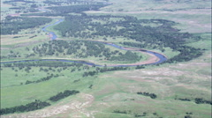 Bends In The Grand River Stock Footage