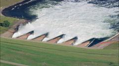 Oahe Dam Stock Footage