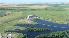 Oahe Dam Outflow Stock Footage