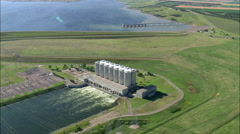 Oahe Dam Power Plant Stock Footage