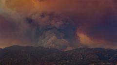 Santa Clarita Sand Fire 2016 Smoke Timelapse Stock Footage