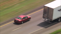 Trucks On Route 90 Stock Footage