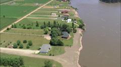 Vermillion River Meets The Missouri Stock Footage