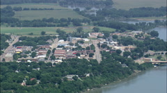 Yankton aerial Stock Footage