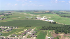 Landing At Chan Gurney Municipal Airport Stock Footage