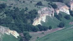 Escarpment On North Bank Of The Missouri Stock Footage