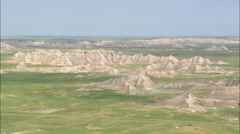 Approaching Badlands National Park Stock Footage