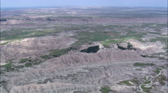 High Over Badlands Stock Footage
