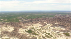 Western End Of The Badlands Stock Footage