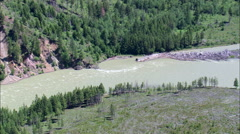 Flathead River Through Cammas Creek Stock Footage