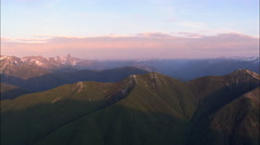 Watch Tower On Flathead Range In Sunset Stock Footage