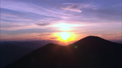 The Sun Sets Over Glacier Park Stock Footage