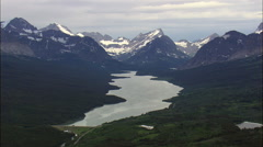 East Side Of Glacier Of Park Stock Footage