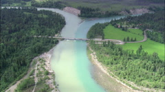 North Fork And Middle Fork Of The Flathead River Stock Footage