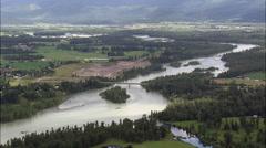 Flathead River Towards Kalispell Stock Footage