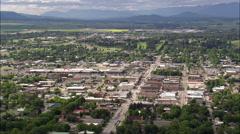Kalispell aerial Stock Footage