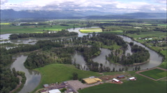 Flathead River In Flood Stock Footage