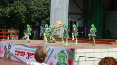 Perm, Russia, July 24th, park Gorkogo. Weekend in the entertainment park. Stock Footage