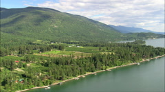 East Side Of Flathead Lake Stock Footage