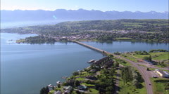 Polson aerial Stock Footage