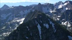 High In The Mission Mountains Stock Footage